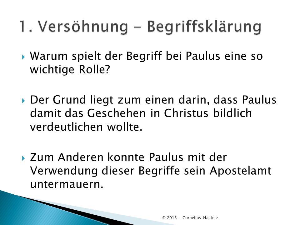 Warum spielt der Begriff bei Paulus eine so wichtige Rolle? Der Grund liegt zum einen darin, dass Paulus damit das Geschehen in Christus bildlich verd