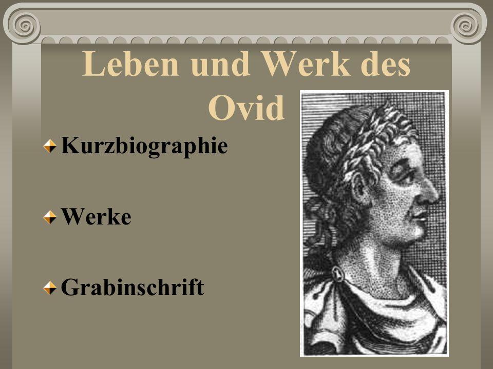 Kurzbiographie 20.März/43 v.Chr.