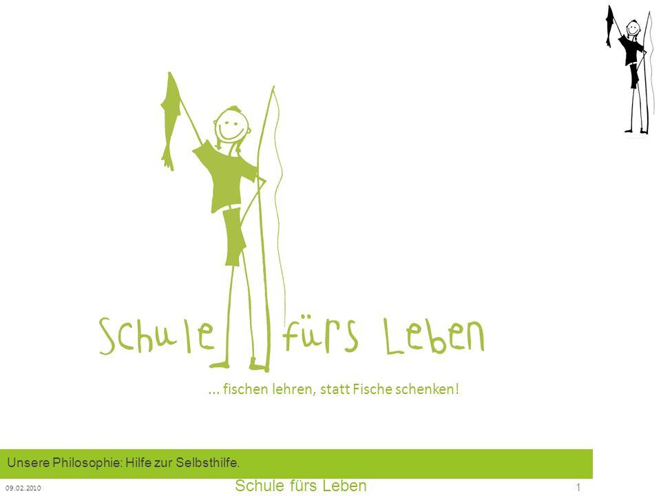 Schule fürs Leben 09.02.2010 2 2003 Januar: Der Verein wird mit 11 Mit- Gliedern in Frankfurt gegründet.
