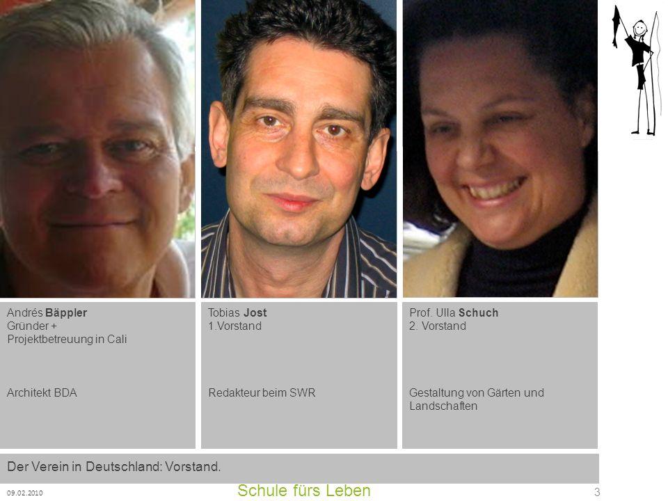 Schule fürs Leben 09.02.2010 24 Der Präsident des Clubs Rotario Cali Pance auf dem Weltwärts- Congress in Cali im Oktober 2009 in Montebello....