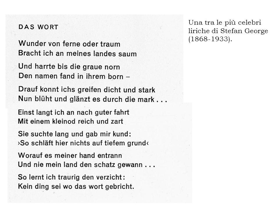 Dal saggio Poesie und Leben (1896) di Hugo von Hofmannsthal (1874-1929): Die Worte sind alles, die Worte, mit denen man Gesehenes und Gehörtes zu einem neuen Dasein hervorrufen […] kann.
