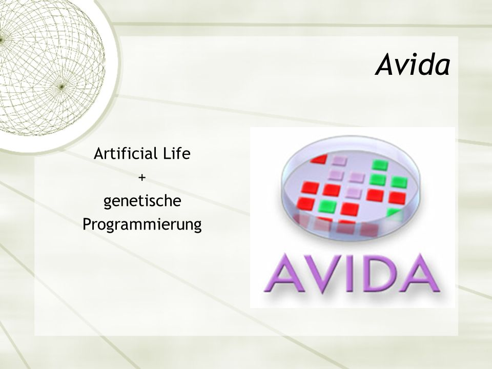 Avida Artificial Life + genetische Programmierung