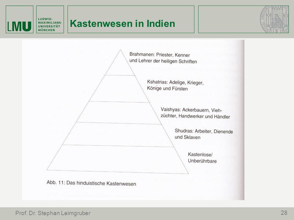 28 Prof. Dr. Stephan Leimgruber Kastenwesen in Indien