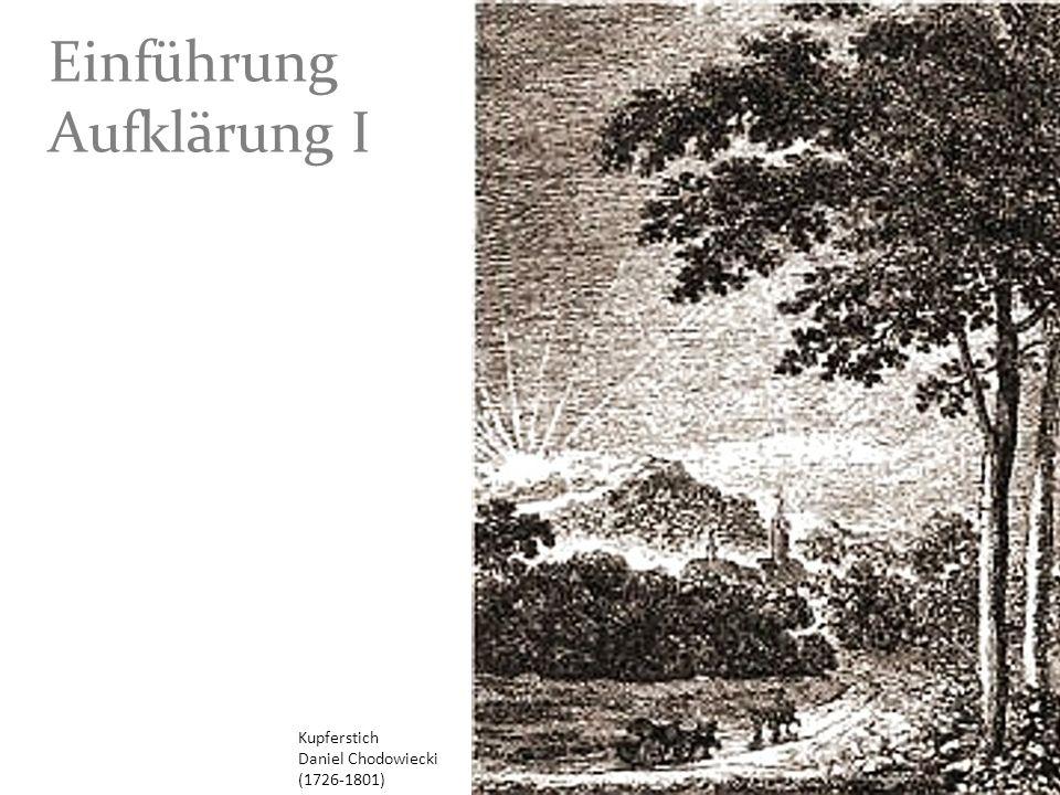 Kupferstich Daniel Chodowiecki (1726-1801) Einführung Aufklärung I