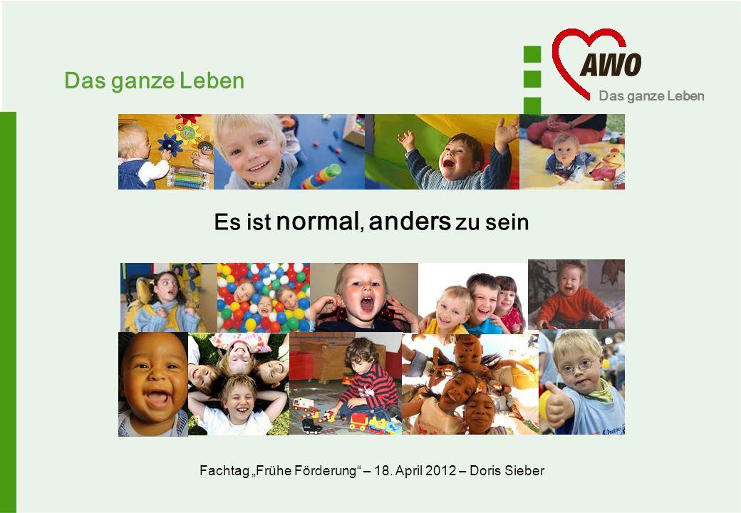 Das ganze Leben Interdisziplinäre Frühförderung (IFF) Integrative Kindertagesstätte Regelkinder- tagesstätte von 3 auf 7 von 6 auf 28 122 Frühkindliche Bildung im Wandel der Zeit