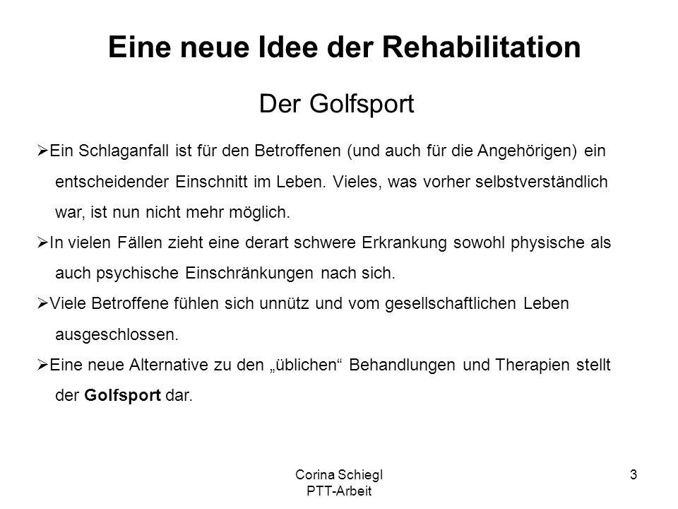 Corina Schiegl PTT-Arbeit 4 Der Golfsport nach dem Schlaganfall - Ein kurzer Rückblick Die Geburtsstadt dieser Idee ist Köln.