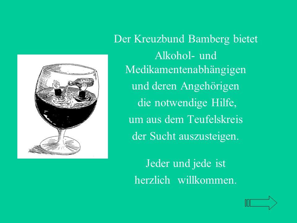 Der Kreuzbund Bamberg bietet Alkohol- und Medikamentenabhängigen und deren Angehörigen die notwendige Hilfe, um aus dem Teufelskreis der Sucht auszusteigen.