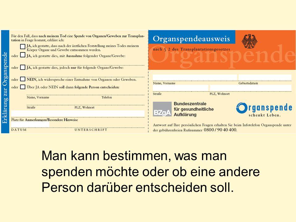 Den Organspendeausweis ausfüllen, heißt nicht zu sterben.
