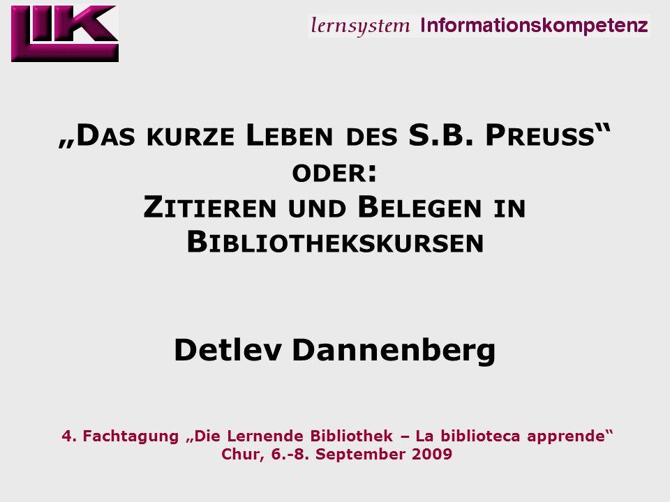 2.: falsche Belege Detlev Dannenberg Die Lernende Bibliothek – La biblioteca apprende 2009 12 E INSTEIN, Albert: Zum kosmologischen Problem der allgemeinen Relativitätstheorie.