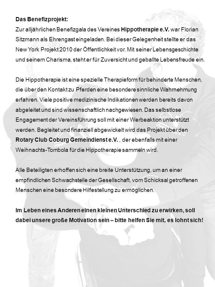 Das Benefizprojekt: Zur alljährlichen Benefizgala des Vereines Hippotherapie e.V.