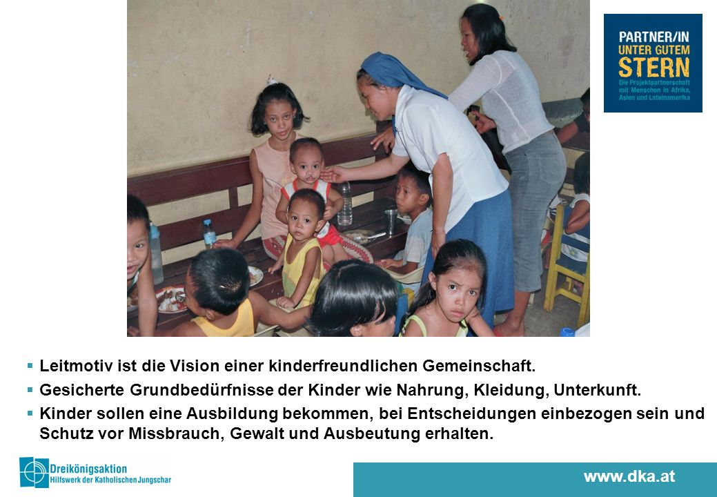 www.dka.at Leitmotiv ist die Vision einer kinderfreundlichen Gemeinschaft.