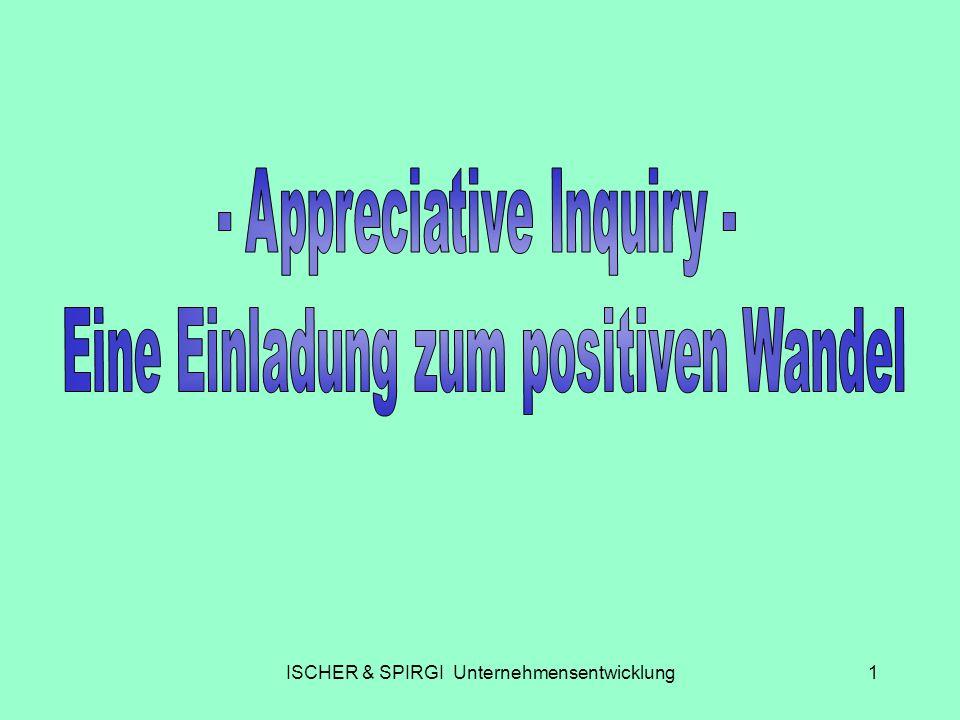 ISCHER & SPIRGI Unternehmensentwicklung22 Die Beteiligten verstehen den positiven Ansatz von AI nicht.