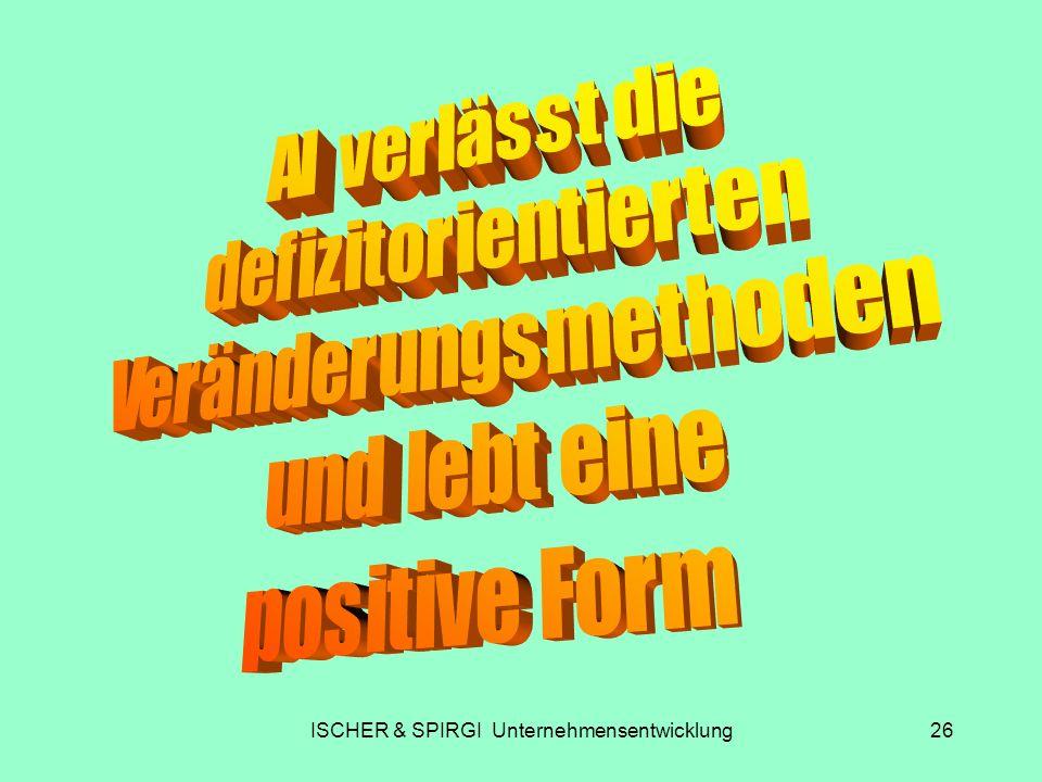 ISCHER & SPIRGI Unternehmensentwicklung26