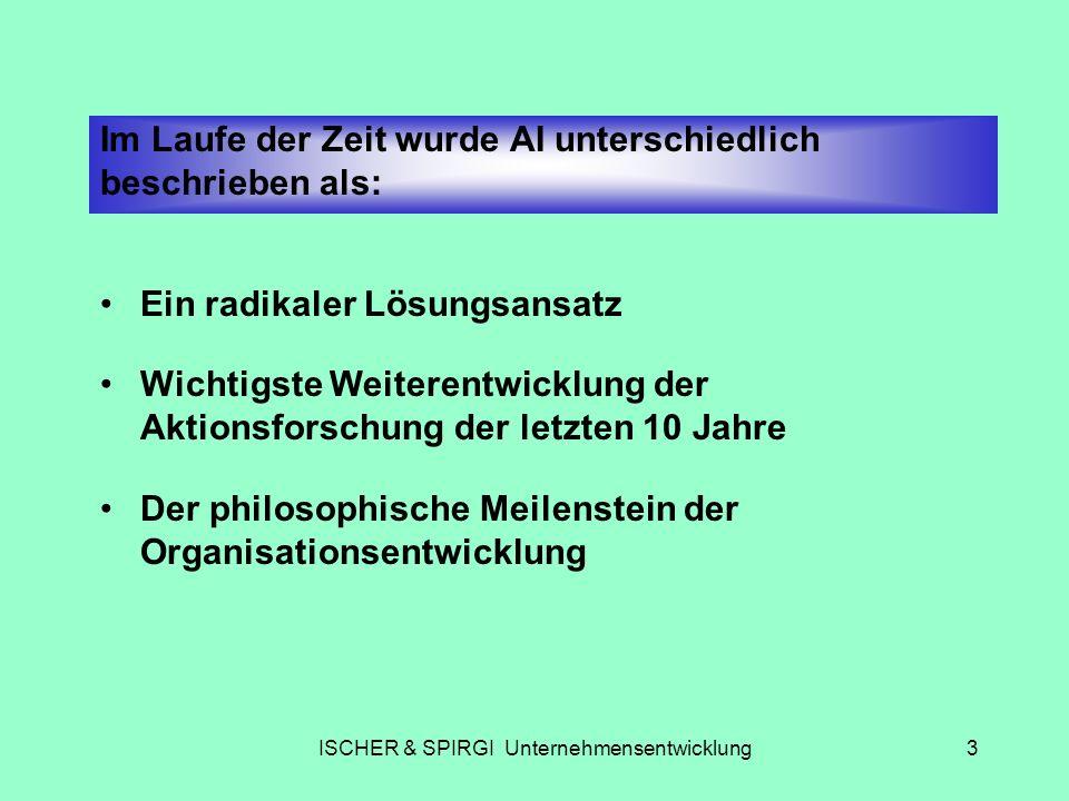 ISCHER & SPIRGI Unternehmensentwicklung4 Die praxisdefinierte Definition von AI Gemeinsame Suche nach dem Besten.