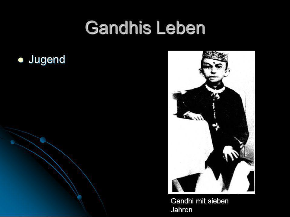 Gandhis Leben Jugend Jugend Gandhi mit sieben Jahren