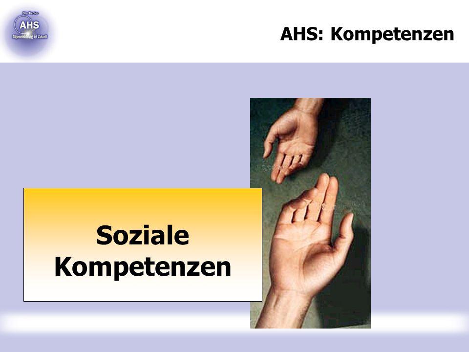 AHS: Kompetenzen Soziale Kompetenzen