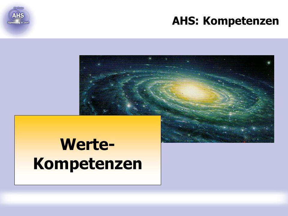AHS: Kompetenzen Werte- Kompetenzen