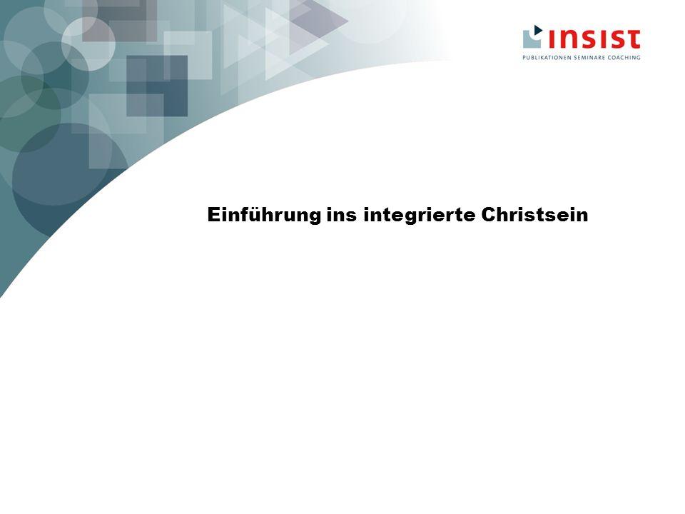 Einführung Gründe für die Des-Integration - fehlende Theologie des integrierten Christseins - veränderte Weltanschauung -Atomisierung der Lebensbereiche -> Ziel: integriert denken ganzheitlich glauben werteorientiert handeln mitten in unserer Gesellschaft