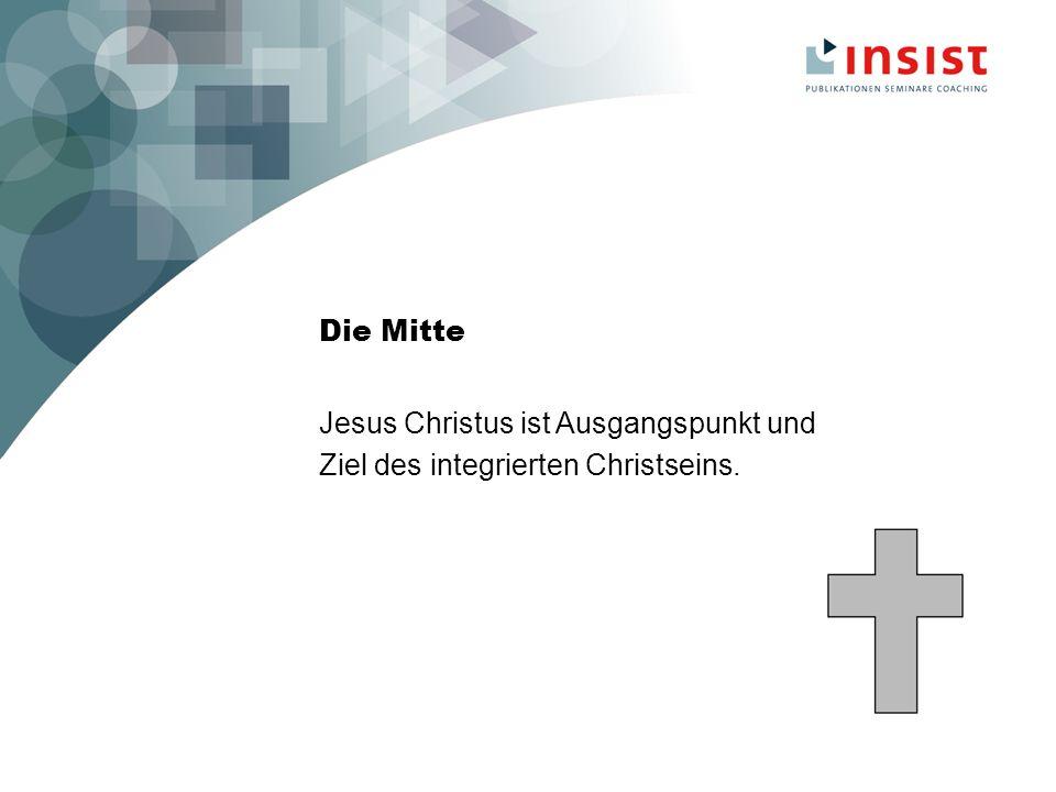 Die Mitte Jesus Christus ist Ausgangspunkt und Ziel des integrierten Christseins.