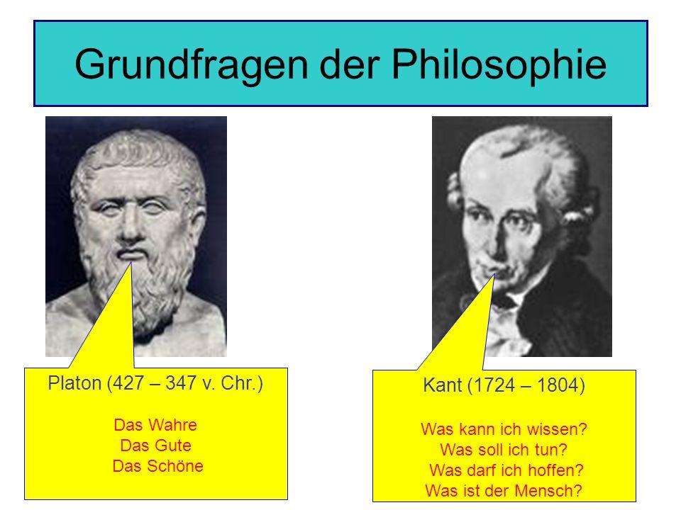 Grundfragen der Philosophie Platon (427 – 347 v.