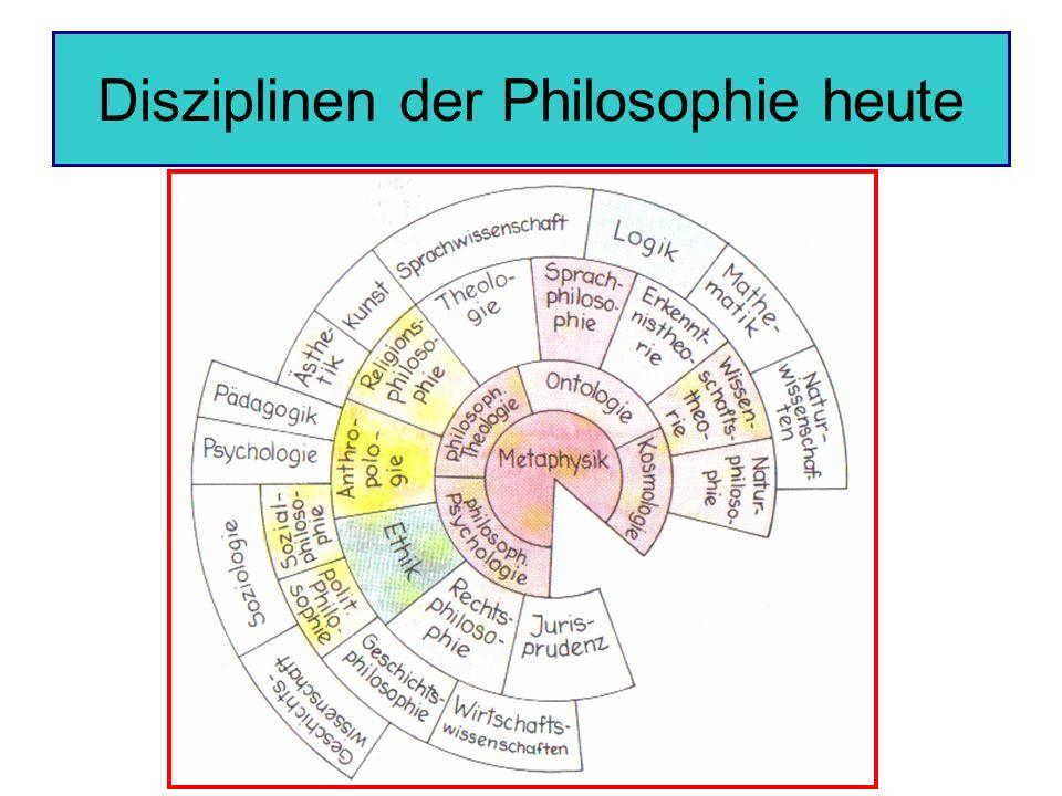 Disziplinen der Philosophie heute