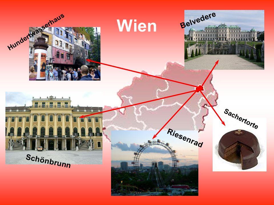 Wien Hundertwasserhaus Schönbrunn Sachertorte Belvedere Riesenrad