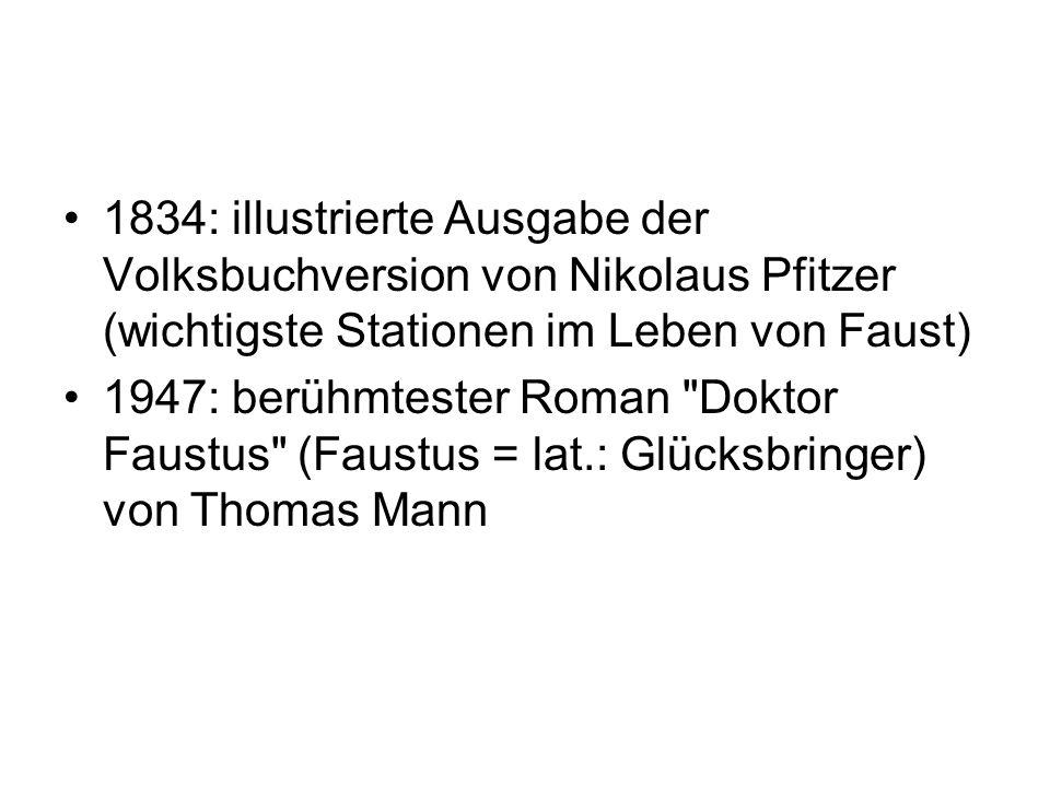 Marlowes Stoff kommt nach Deutschland Wandertruppen und Puppenspieler ab 1750: mehrere 100 literarische und auch musikalische Werke - G.E.Lessing - H.