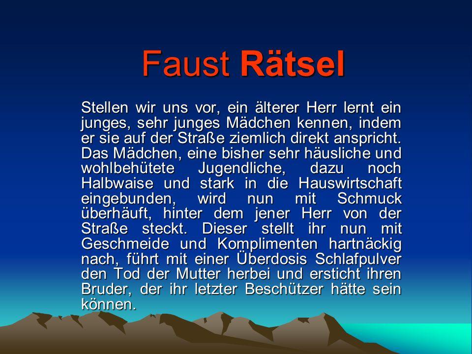 Entstehung des Faust von Goethe Über 60 Jahre arbeitet Goethe mehr oder weniger intensiv an seinem Faust Zwischen 1773 und 1775 entsteht der Urfaust 1