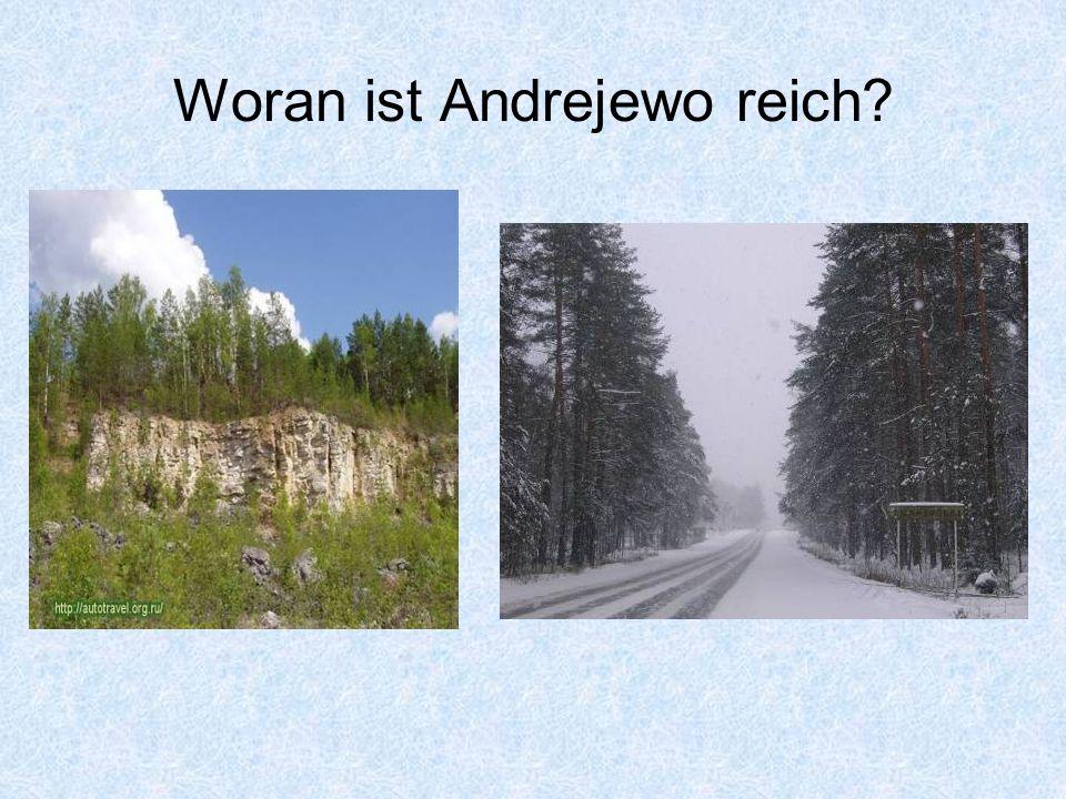 Woran ist Andrejewo reich?