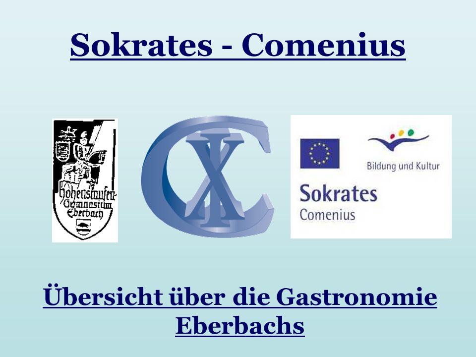 Übersicht über die Gastronomie Eberbachs Sokrates - Comenius