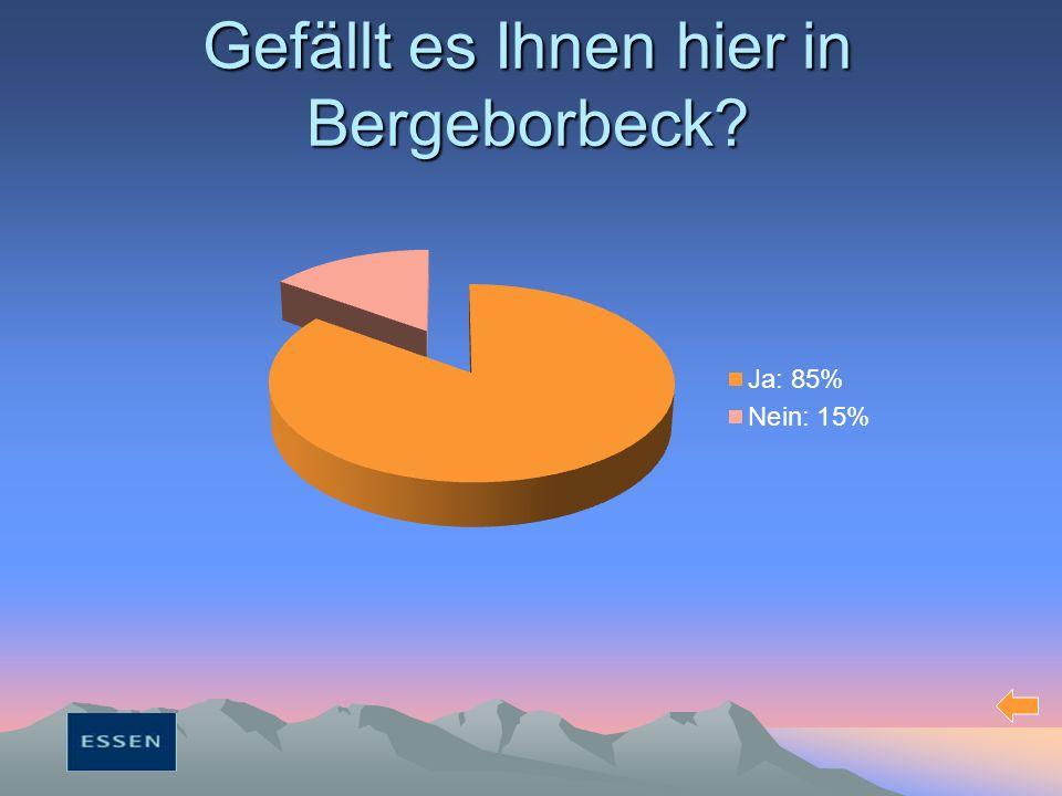 Gefällt es Ihnen hier in Bergeborbeck?