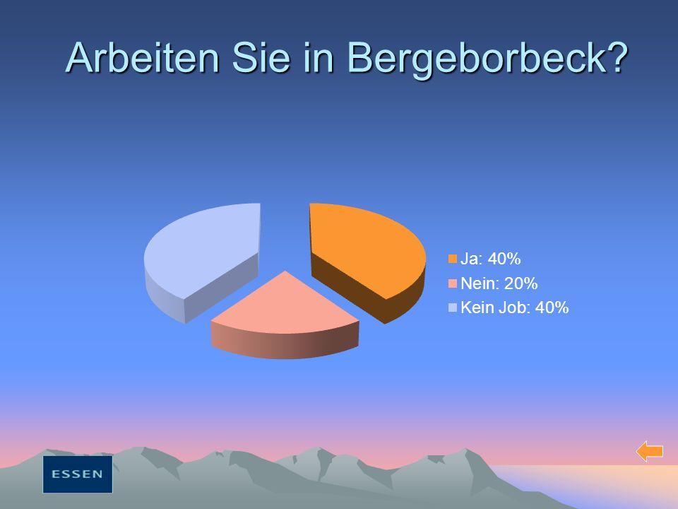 Arbeiten Sie in Bergeborbeck?