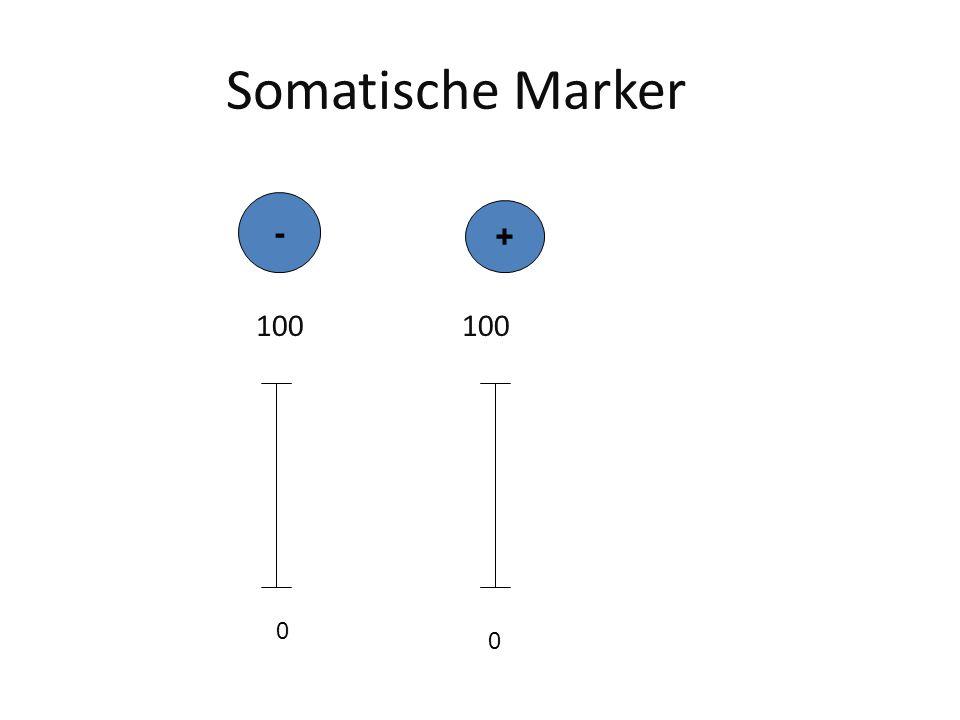 Somatische Marker 100 100 0 0 - +