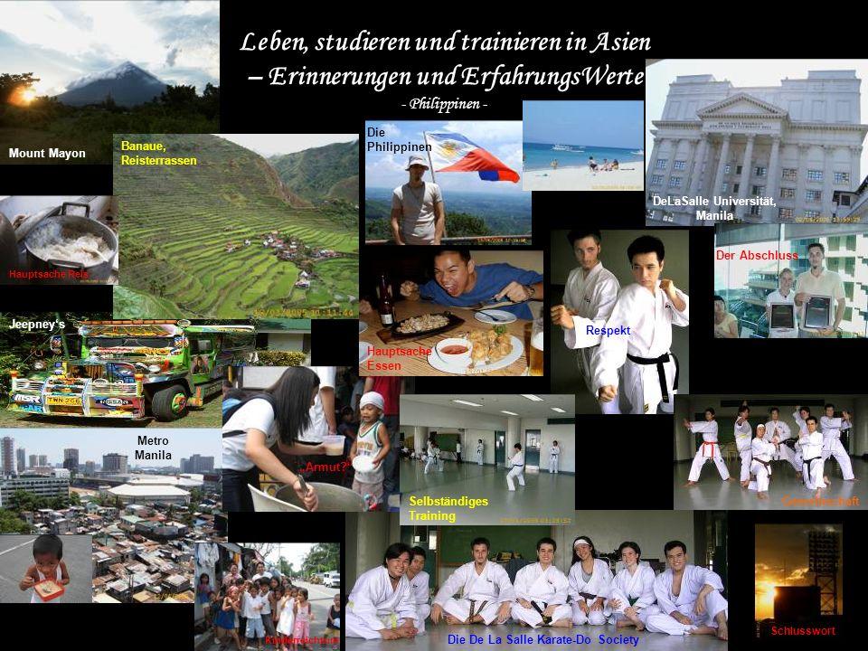 Leben, studieren und trainieren in Asien – Erinnerungen und ErfahrungsWerte - Philippinen - Mount Mayon Banaue, Reisterrassen DeLaSalle Universität, M