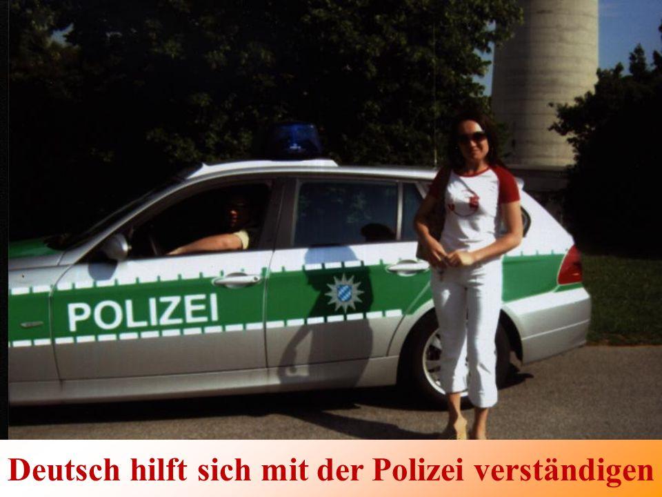 Deutsch hilft sich mit der Polizei verständigen