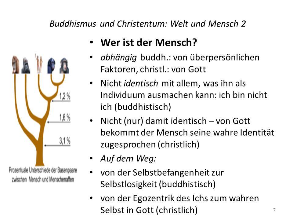 Buddhismus und Christentum: Welt und Mensch 2 Wer ist der Mensch.