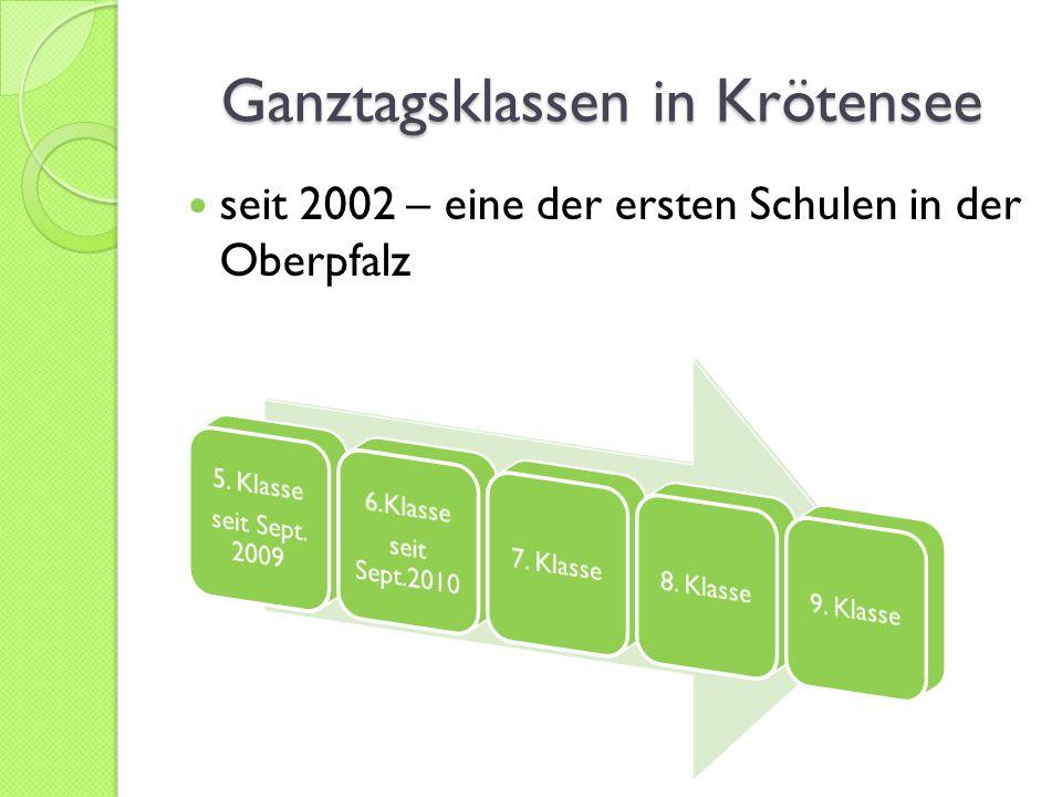 Ganztagsklassen in Krötensee seit 2002 – eine der ersten Schulen in der Oberpfalz