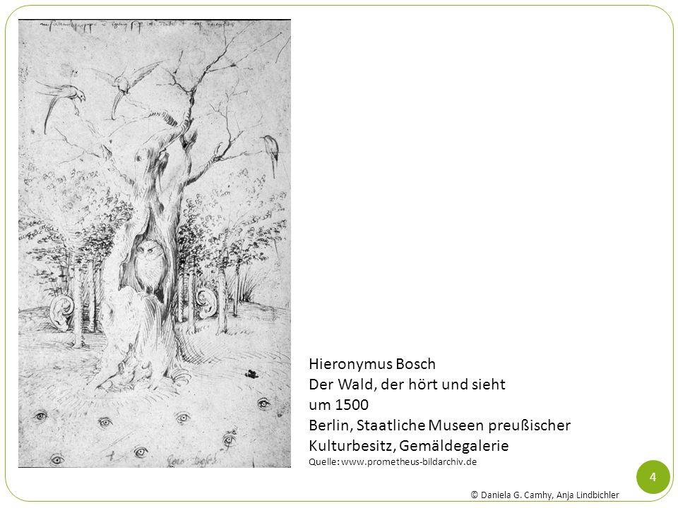 4 Hieronymus Bosch Der Wald, der hört und sieht um 1500 Berlin, Staatliche Museen preußischer Kulturbesitz, Gemäldegalerie Quelle: www.prometheus-bild