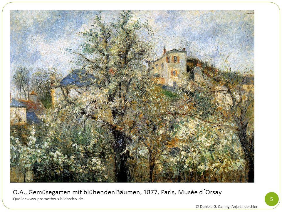 5 O.A., Gemüsegarten mit blühenden Bäumen, 1877, Paris, Musée d´Orsay Quelle: www.prometheus-bildarchiv.de © Daniela G. Camhy, Anja Lindbichler
