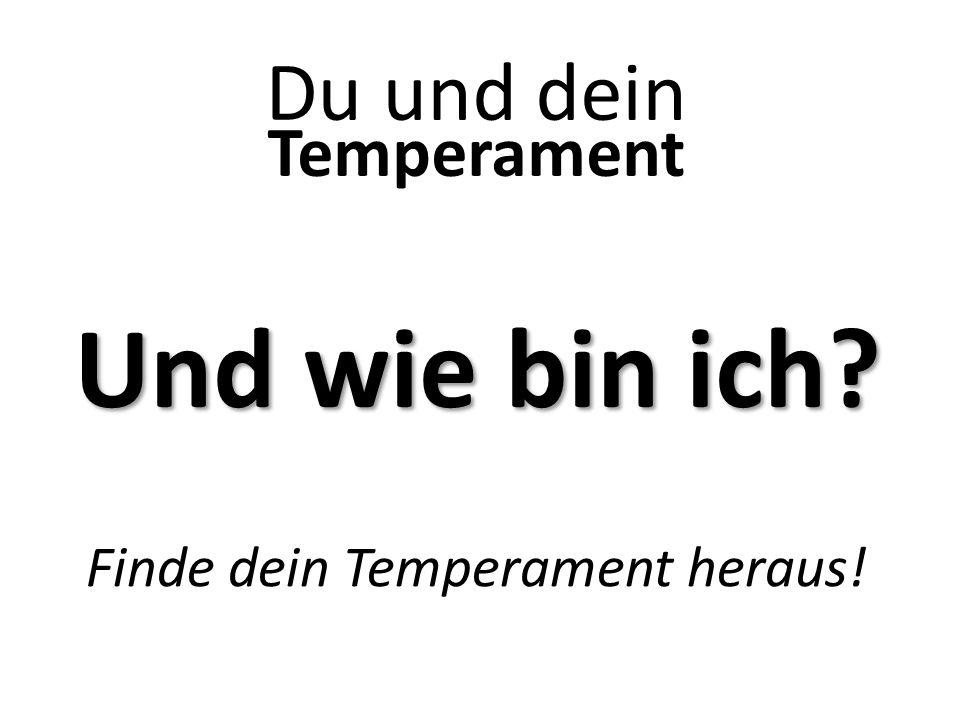 Und wie bin ich? Temperament Du und dein Finde dein Temperament heraus!