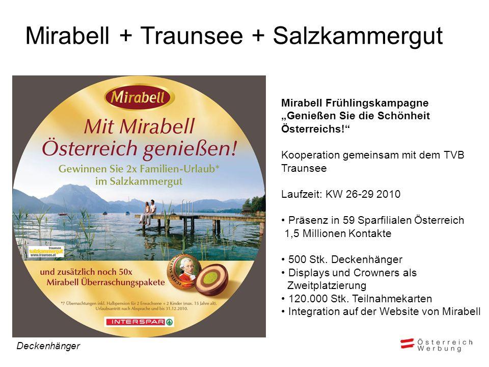 Mirabell + Traunsee + Salzkammergut Mirabell Frühlingskampagne Genießen Sie die Schönheit Österreichs.