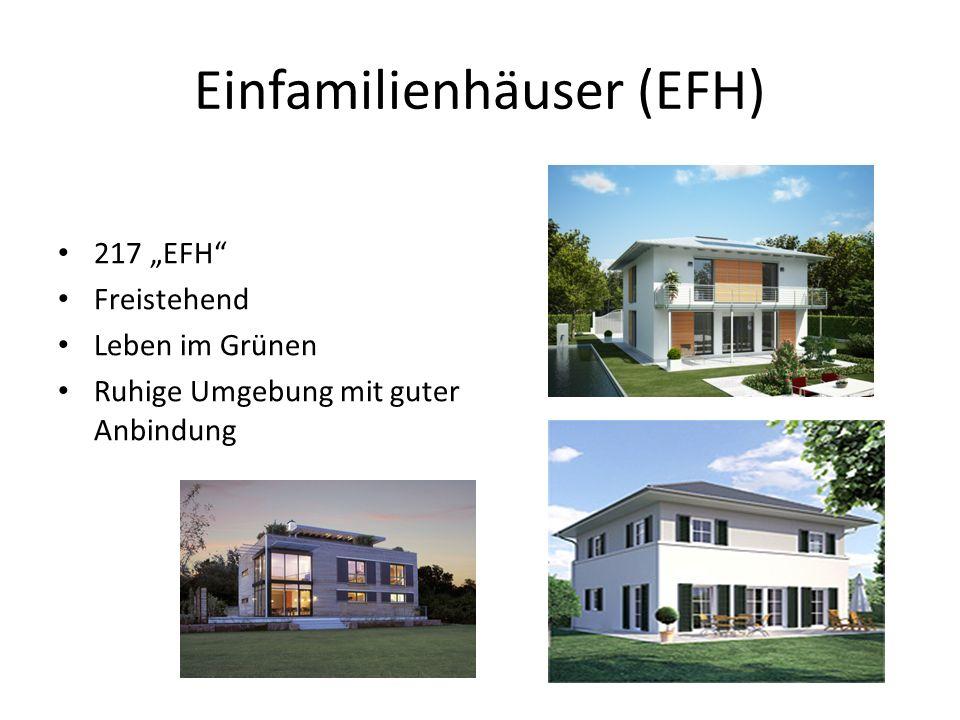 Einfamilienhäuser (EFH) 217 EFH Freistehend Leben im Grünen Ruhige Umgebung mit guter Anbindung