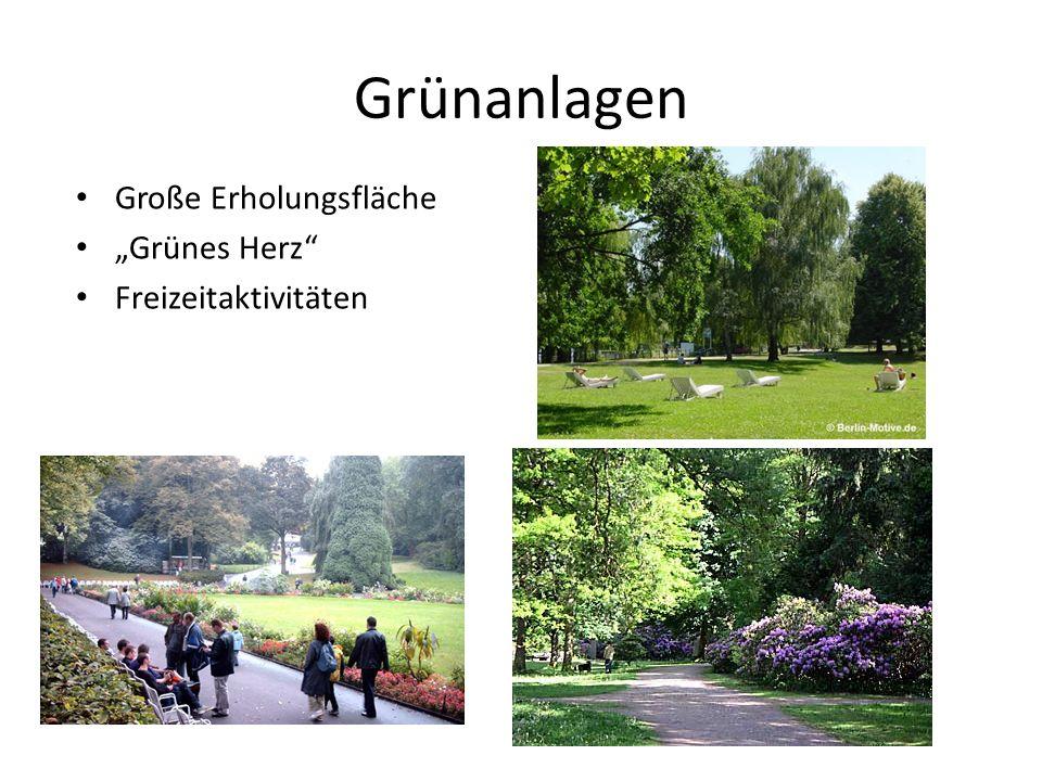 Grünanlagen Große Erholungsfläche Grünes Herz Freizeitaktivitäten