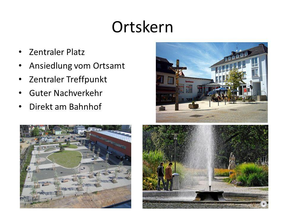 Ortskern Zentraler Platz Ansiedlung vom Ortsamt Zentraler Treffpunkt Guter Nachverkehr Direkt am Bahnhof