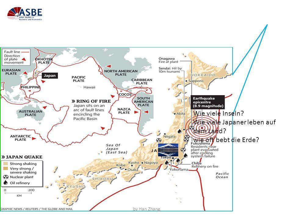 Wie viele Inseln? Wie viele Japaner leben auf dem Land? wie oft bebt die Erde? by Han Zhang