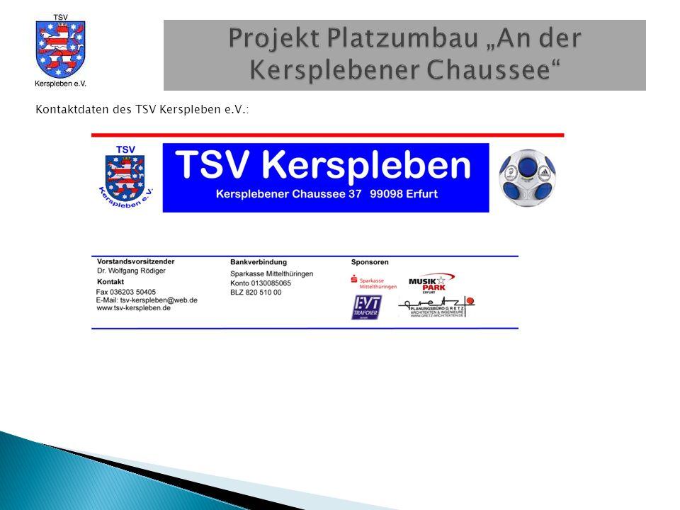 Kontaktdaten des TSV Kerspleben e.V.: