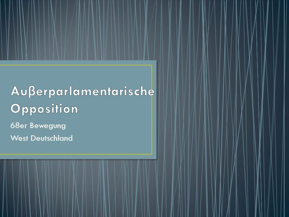 68er Bewegung West Deutschland