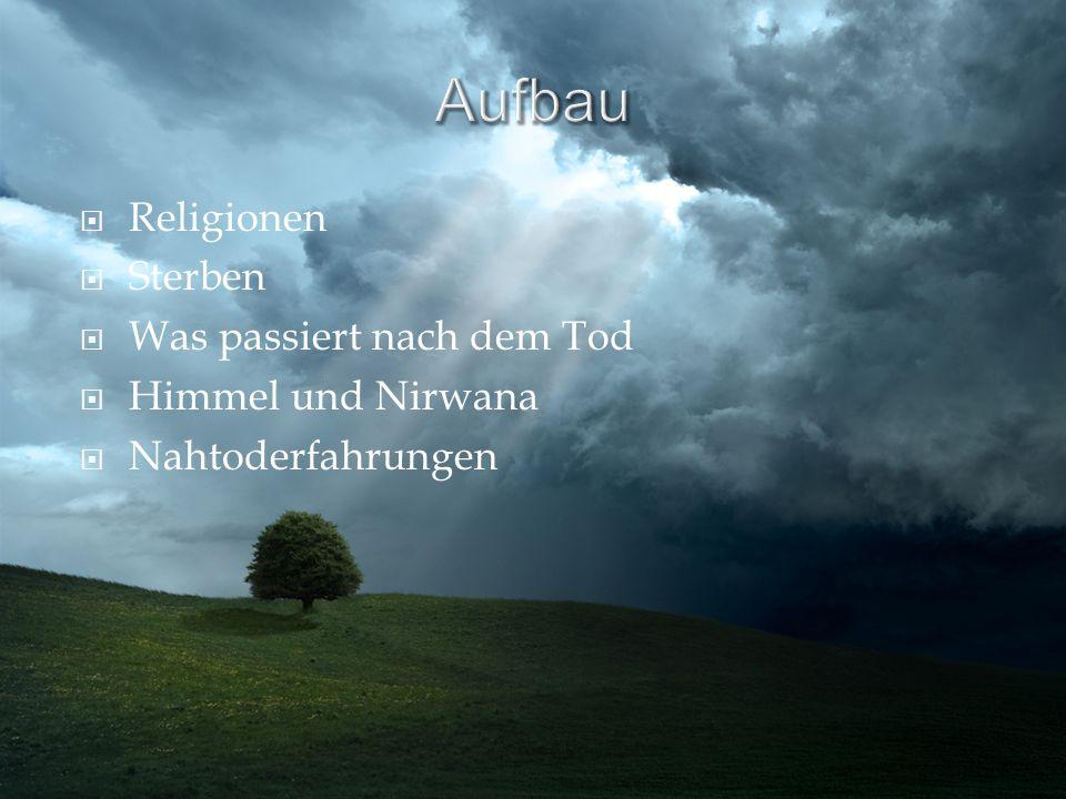 Religionen Sterben Was passiert nach dem Tod Himmel und Nirwana Nahtoderfahrungen