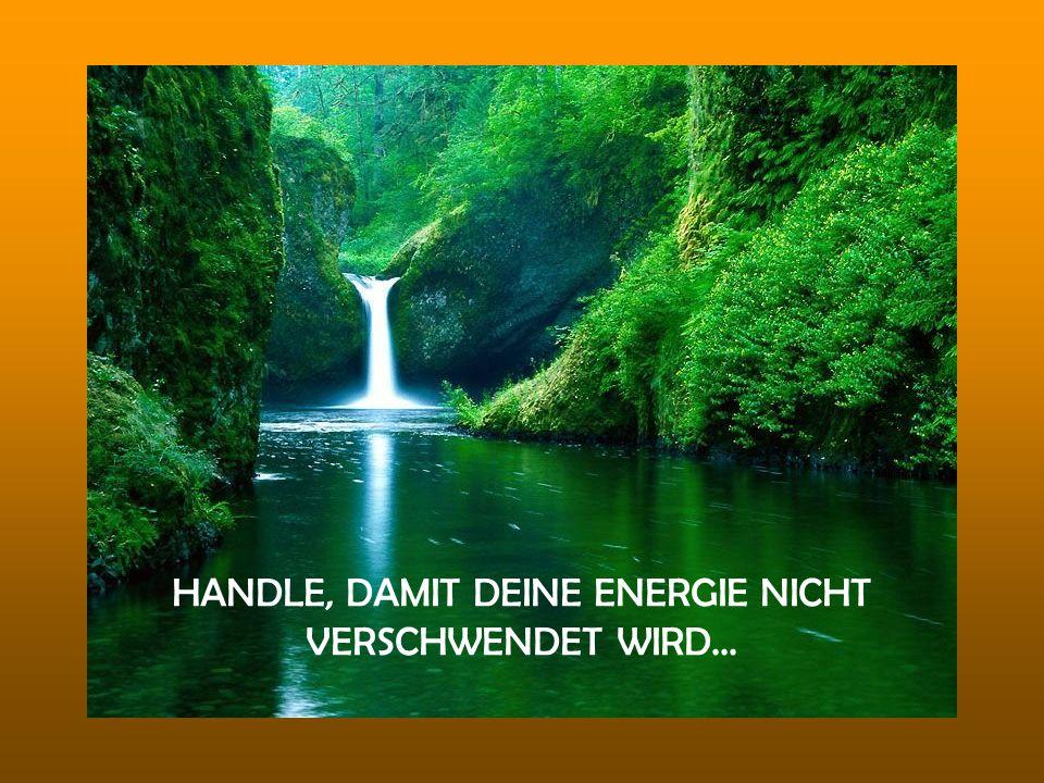 HANDLE, DAMIT DEINE ENERGIE NICHT VERSCHWENDET WIRD...