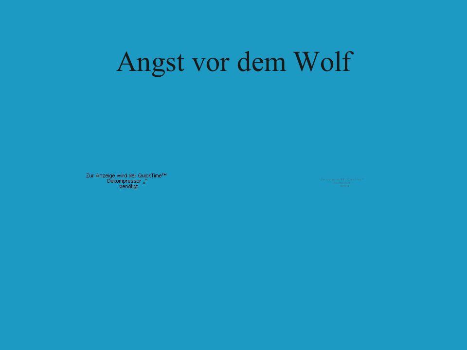 Angst vor dem Wolf